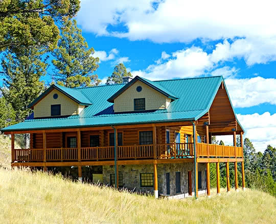 Montana log home restoration atop a mountain range