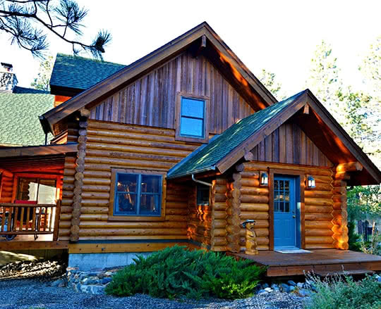 Refinished Montana Log Home, oiled and preserved